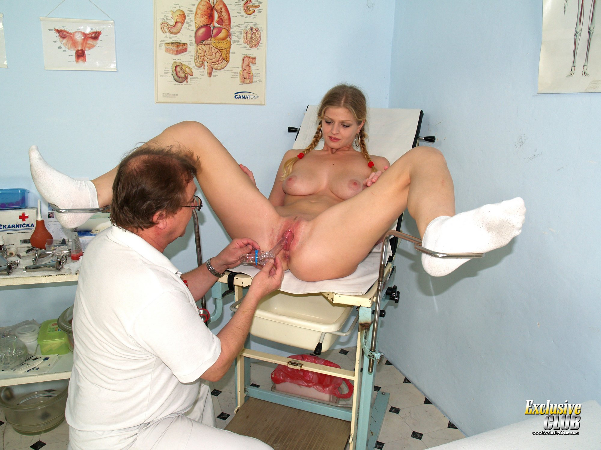 Kinky gyno exam at gyno clinic with old bizarre doctor 8