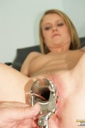 Slim Teen Ckate Pussy Speculum Gyno Examination - Picture 9