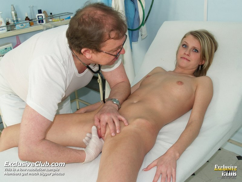 Kinky gyno exam at gyno clinic with old bizarre doctor 9