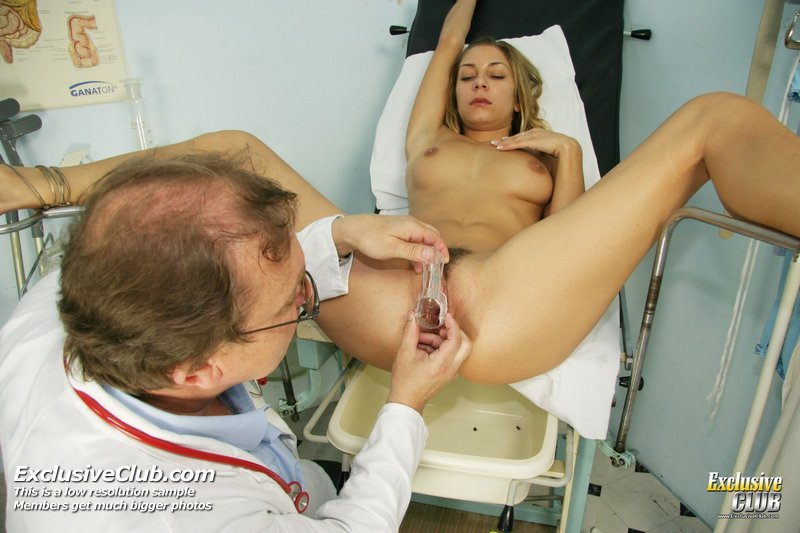 Kira kinky gyno exam at gyno clinic with old bizarre doctor 7